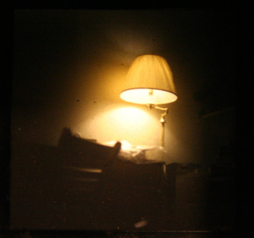 Lamp through a viewfinder by .reid.