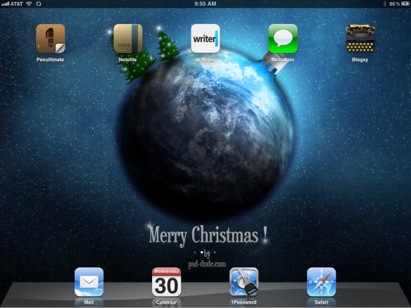 Christmas iPad Background