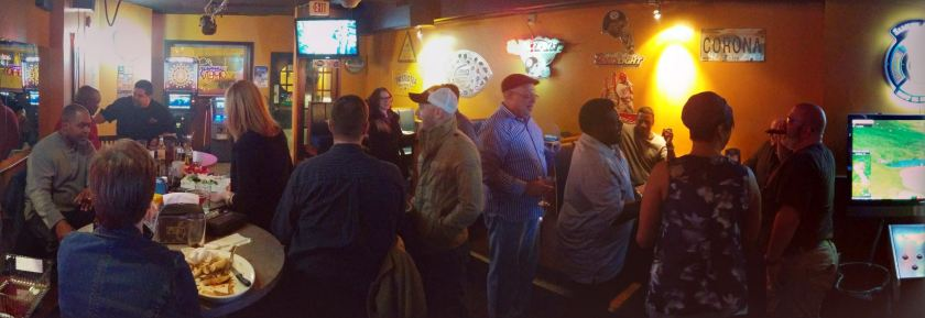 Party crowd at Pints for my birthday.